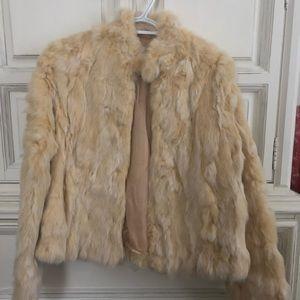 Wilson Leather genuine fur coat Med